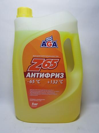 АНТИФРИЗ AGA043Z ЖЕЛТЫЙ 5КГ (Москва)