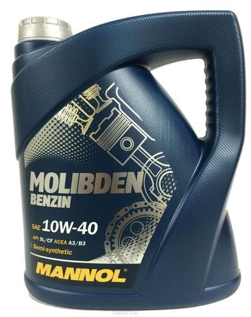 МАСЛО MOLIBDEN BENZIN 10W40 4Л П/СИНТ (Mannol/Германия)